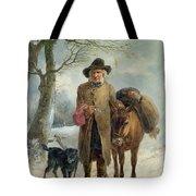 Gathering Winter Fuel  Tote Bag by John Barker