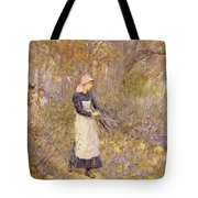 Gathering Wood For Mother Tote Bag