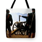 Gatling Gun On The Battle Field Tote Bag