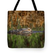 Gator In Canal Tote Bag