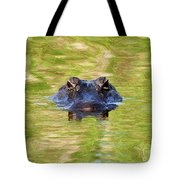 Gator In The Green - Digital Art Tote Bag