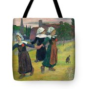 Gauguin, Breton Girls, 1888 Tote Bag