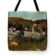 Gauguin: Swineherd, 1888 Tote Bag
