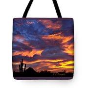 Gavilan Peak With Painted Sky Tote Bag