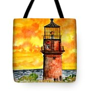 Gay Head Lighthouse Martha's Vineyard Tote Bag