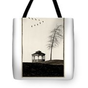 Gazebo And Geese Poster Tote Bag