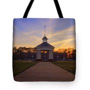 Gazebo At Sunset Tote Bag