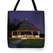 Gazebo During The Blue Moments Frankfort Il Tote Bag