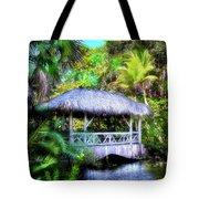 Gazebo In Paradise Tote Bag