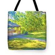 Gazebo On Onion Creek Tote Bag