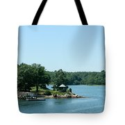 Gazebo On The Ocean Tote Bag