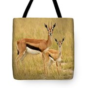 Gazelle Mother And Child Tote Bag