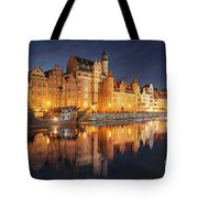 Gdansk By Night Tote Bag