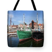 Gdansk Old Town Skyline From The Harbour Tote Bag