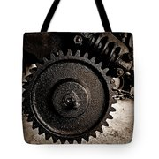 Gear And Screw Sepia 2 Tote Bag
