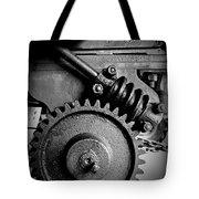 Gear In Monochrome Tote Bag