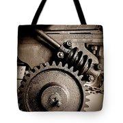 Gear In Sepia Tote Bag