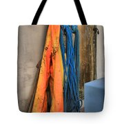 Gear On The Salmon Boat Tote Bag