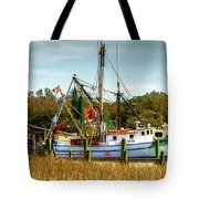 Geechie Seafood Shrimp Boats Tote Bag