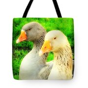 Geese Have Strong Affections For Others In Their Group Tote Bag