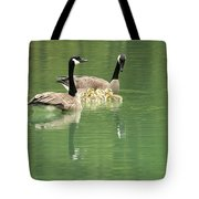 Geese And Babies Tote Bag