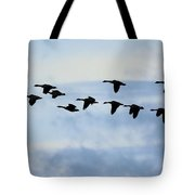 Geese Flying South Tote Bag