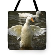 Geese In The Water Tote Bag