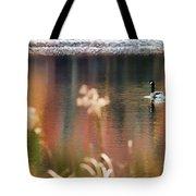 Geese Lake Fall Tote Bag