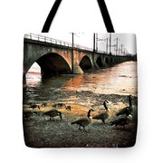 Geese On A Stroll Tote Bag