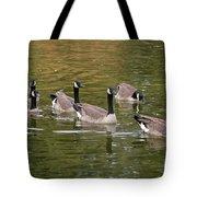 Geese On Pond Tote Bag