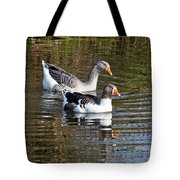 Geese On The Canal   Tote Bag