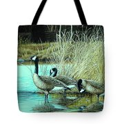 Geese On Watch Tote Bag