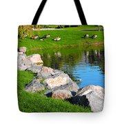Geese Retreat Tote Bag