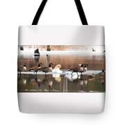 Geese Swans And Ducks Tote Bag
