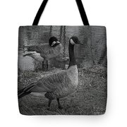 Geese Together  Tote Bag