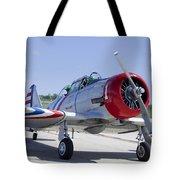 Geico Skytypers Snj-2 World War II-era Planes Tote Bag