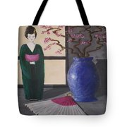 Geisha Doll Tote Bag