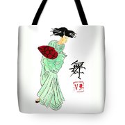 Geisha Girl Dancing Tote Bag