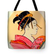 Geisha In The House Of Pleasure Tote Bag