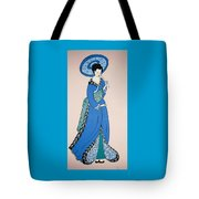 Geisha With Parasol Tote Bag