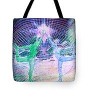 Gemini Moon Mandala Tote Bag