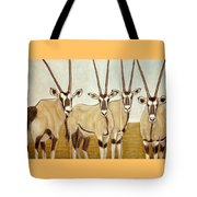Gemsboks Or 0ryxs Triptych Tote Bag