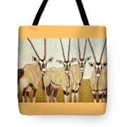 Gemsboks Or 0ryxs Triptych Tote Bag
