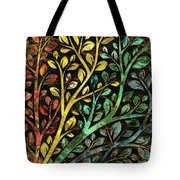 Gemstone Tree With Golden Decor Tote Bag
