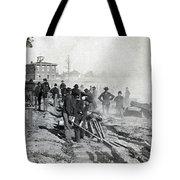 Gen Shermans Troops Destroying Railroad Before The Evacuation Of Atlanta - C 1864 Tote Bag