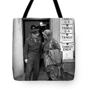 General Eisenhower And General Ridgway  Tote Bag by War Is Hell Store