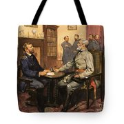 General Grant Meets Robert E Lee  Tote Bag