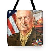 General Mattis Portrait Tote Bag