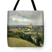 General View Of The Town Of Saint Lo Tote Bag