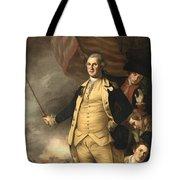 General Washington At The Battle Of Princeton Tote Bag